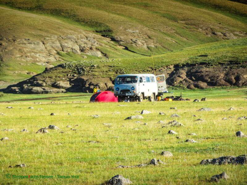 Steppenfuchs Reisen - Zeltenin der mongolischen Steppe