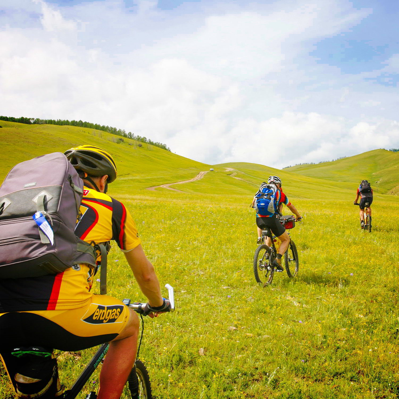 Mountainbike – Durch die Steppe