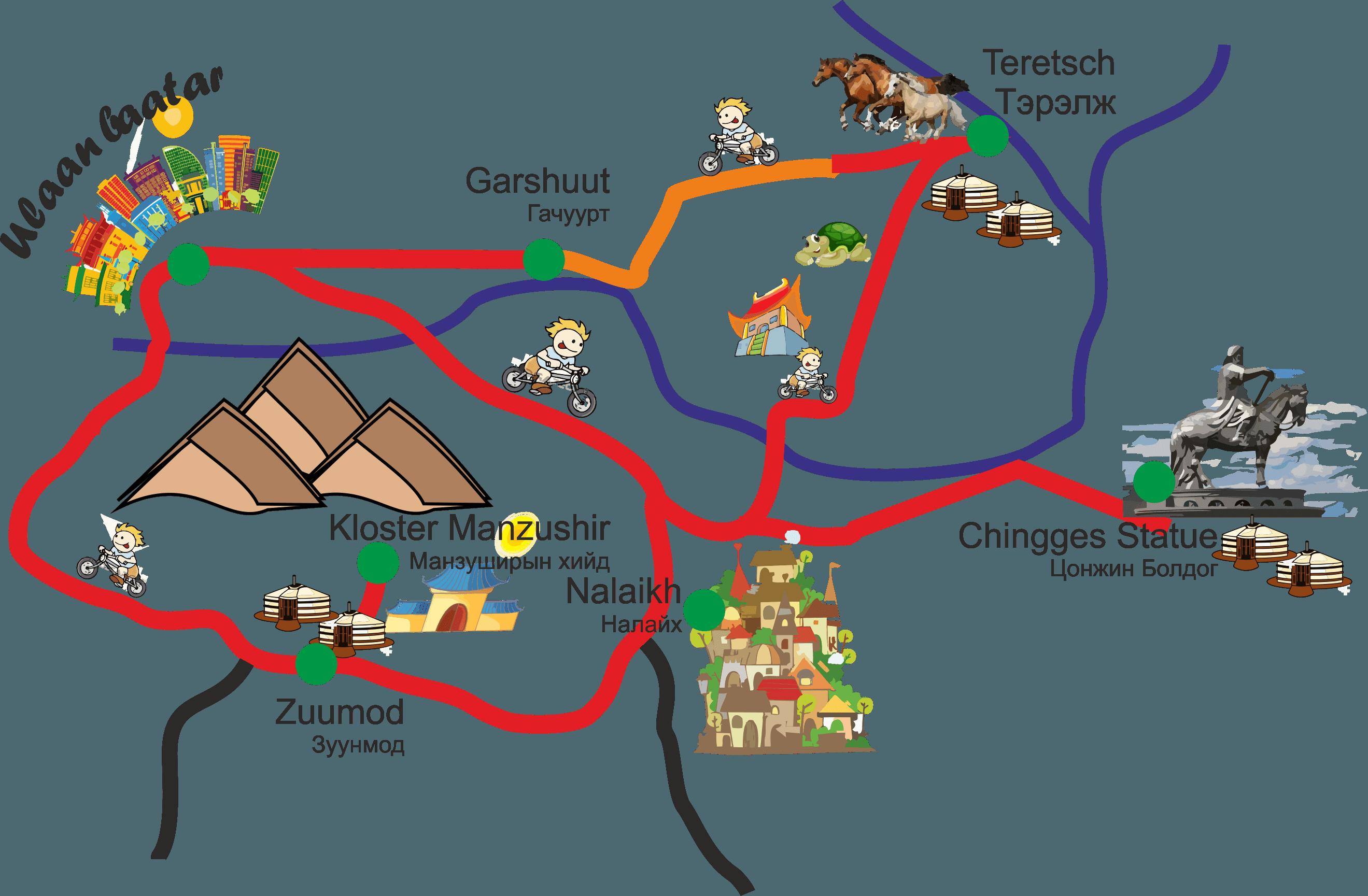 Karte Tereltsch Loop