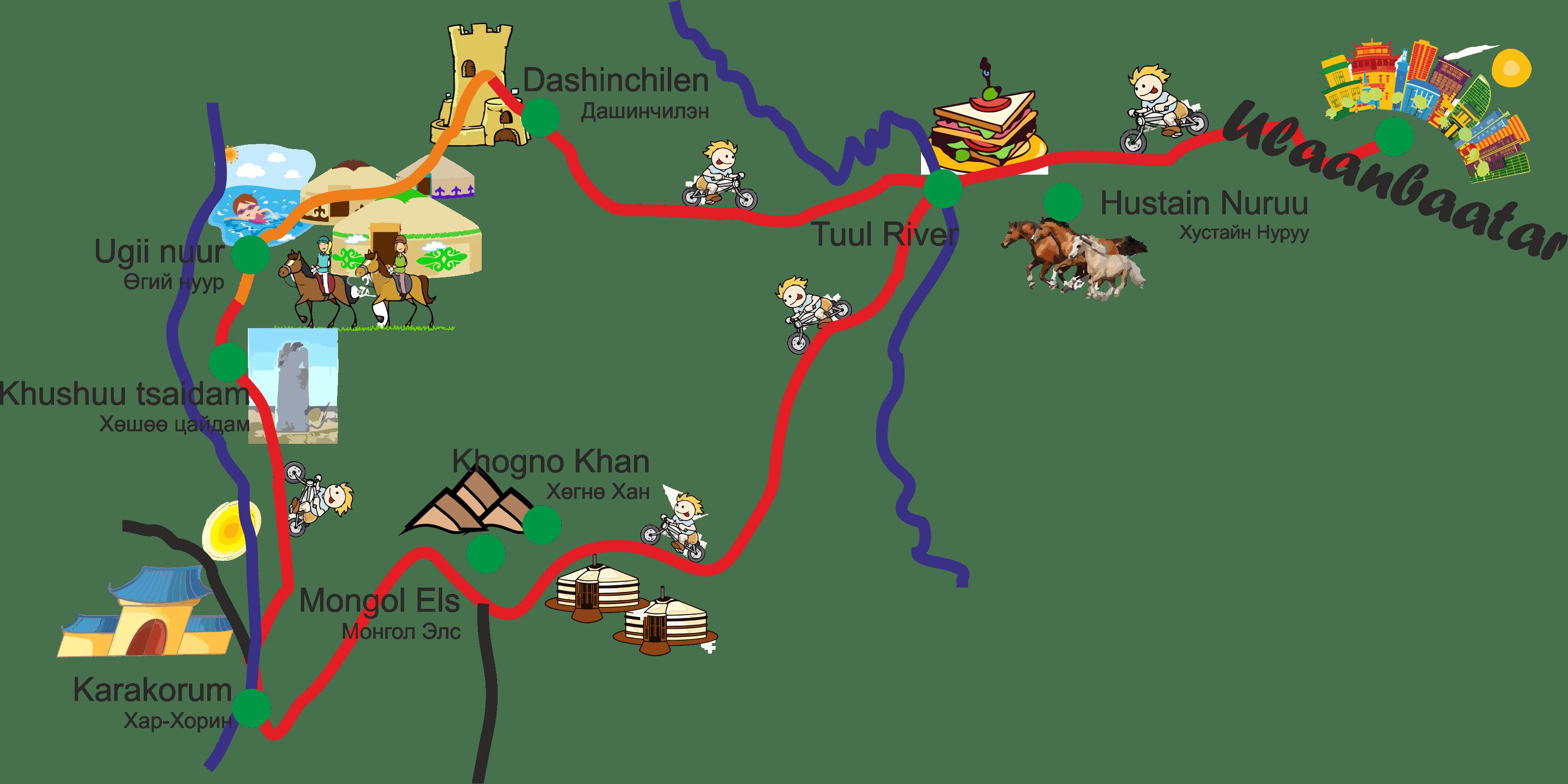 Karte Steppenfuchs Reisen Karakorum Loop