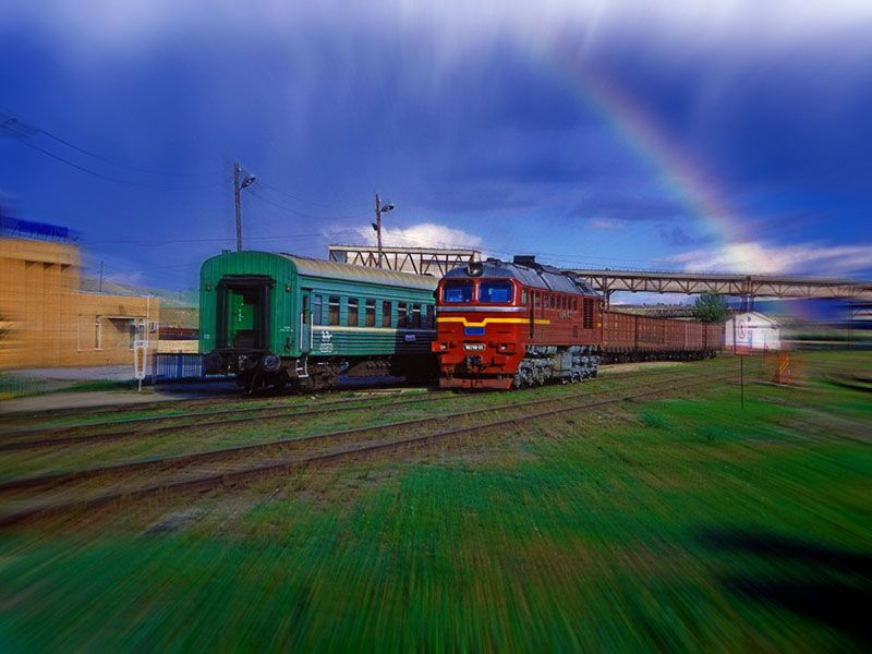 Steppenfuchs Reisen - Bahndepot in Sharyn Gol